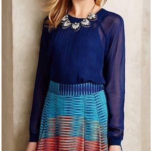 Anthropologie One Fine Day Ainsly Sheer Blouse